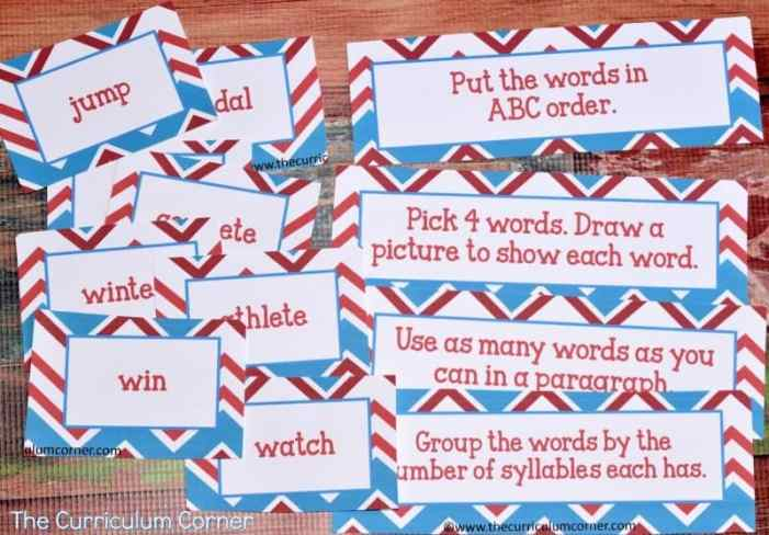 Winter Sports Games Printables | Math & Literacy Centers from The Curriculum Corner