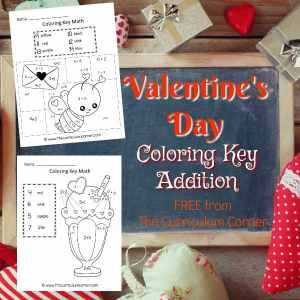 Valentine's Day Color Key Math 4