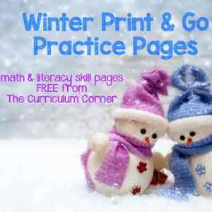 FREE Winter Print Go Pages
