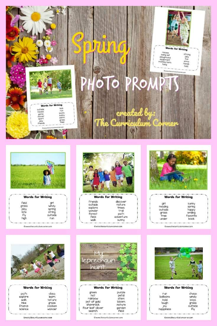 We have assembled a collection of 10 spring photo prompts for writing with word banks. We hope you love this free resource for teachers!