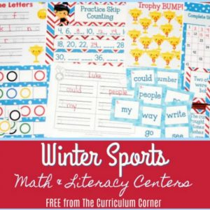 Winter Sports Math & Literacy Centers