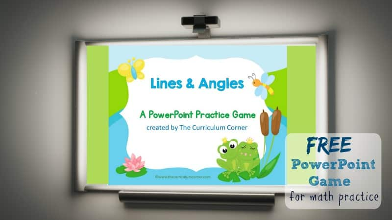 Use this lines and angles geometry game for PowerPoint to give your students practice with identifying lines and angles.