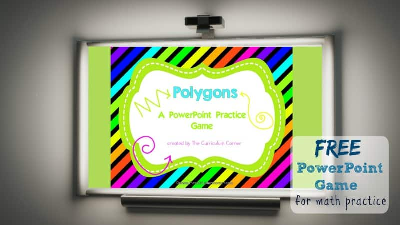 polygon geometry game powerpoint the curriculum corner 123