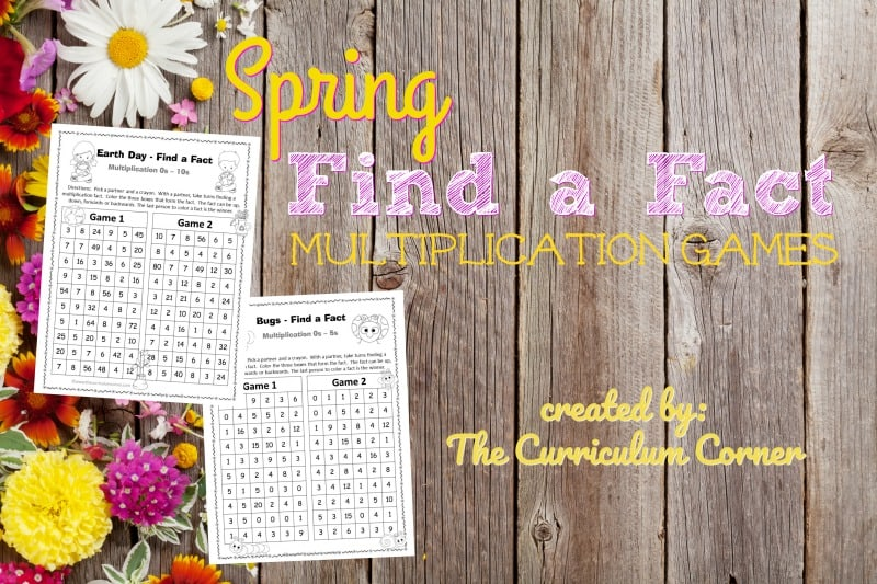 These spring multiplication games are designed to offer multiplication fact practice in a fun and engaging format!