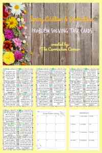 FREE Spring Word Problems from The Curriculum Corner