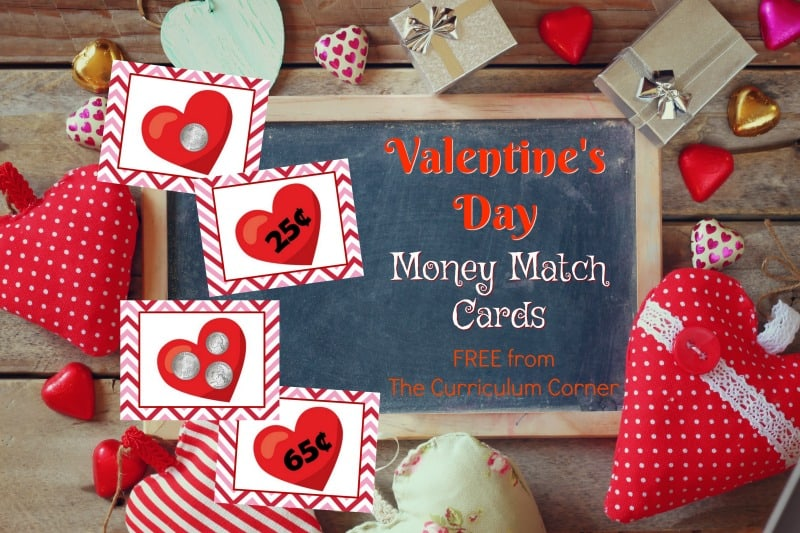 These Valentine money matching cards are designed for your primary classroom. Cut out the cards and use them for an engaging seasonal math center!