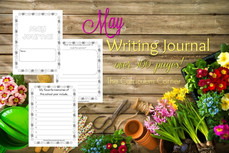 This May writing journal is designed for your primary classroom. Use the pages to create journals or individually for May writing prompts.