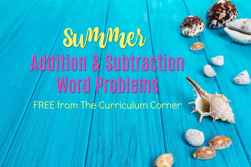 Summer Problem Solving (2nd Grade) - The Curriculum Corner 123