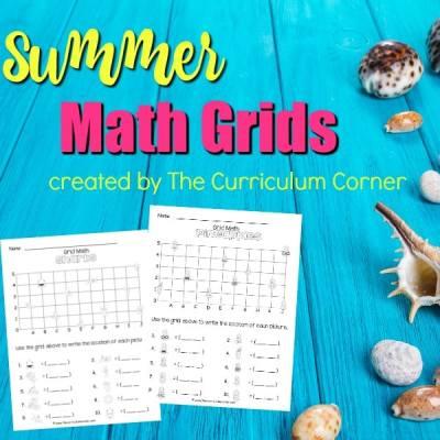 Summer Math Grids (Coordinate Grids)