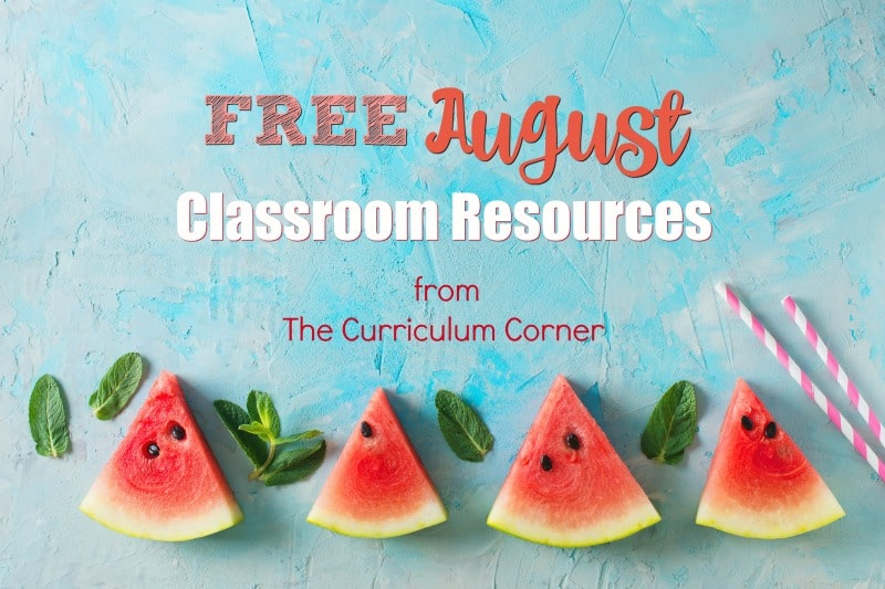 These free August resources will help you prep for a smooth August. FREE classroom resources for teachers from The Curriculum Corner.