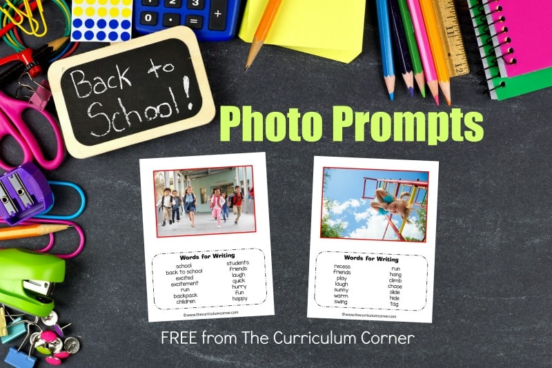We have assembled a collection of 10 back to school photo prompts for writing with word banks. We hope you love this free resource for teachers!