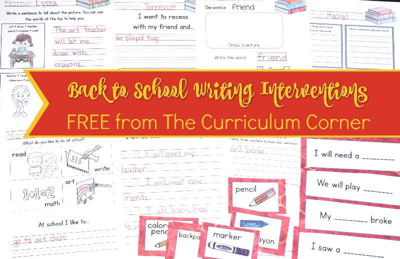 These back to school writing interventions are designed to help you with those students that require a little prompting during writing.