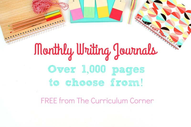 photo relating to Printable Journals named Month to month Printable Publications - The Curriculum Corner 123