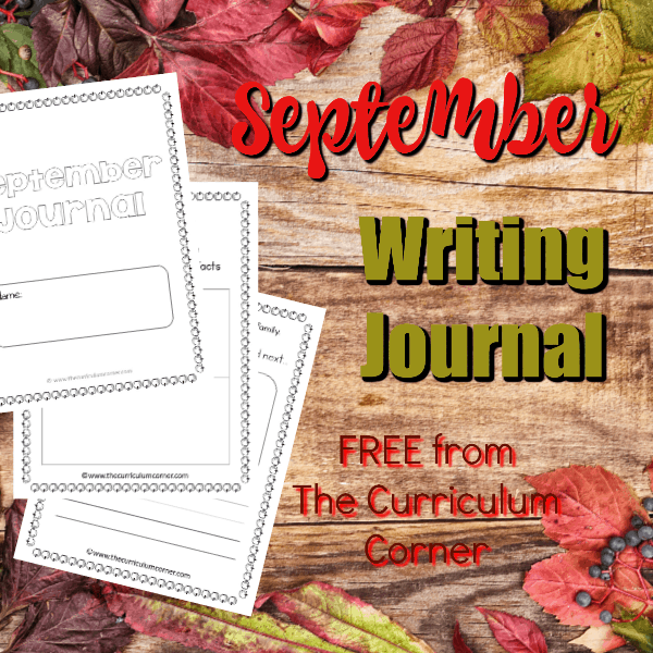 FREE September Writing Journal