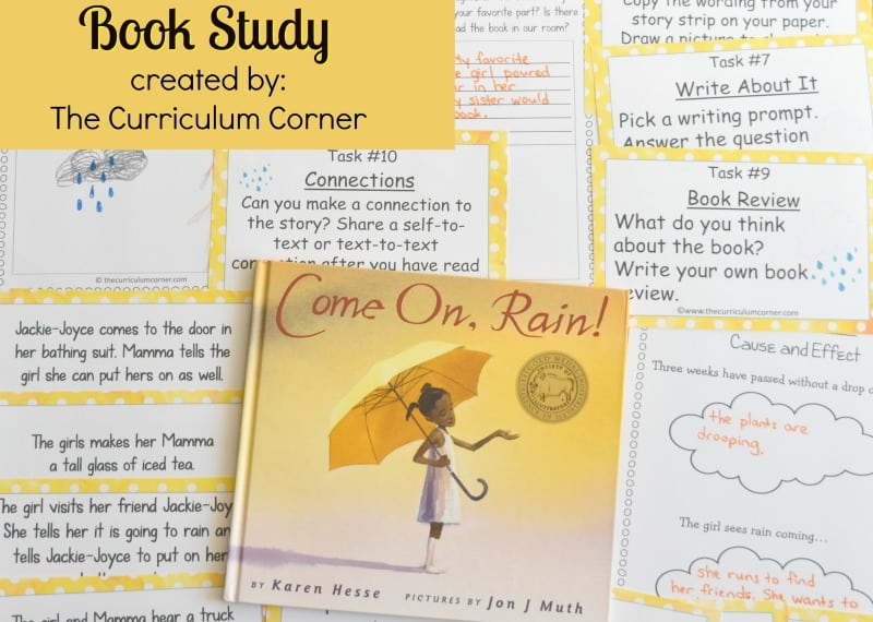 Come On, Rain! Book Study - A free literacy center set created by The Curriculum Corner