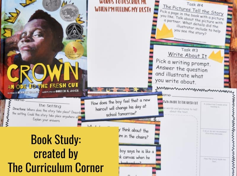 Crown: An Ode to the Fresh Cut Book Study - A free literacy center set created by The Curriculum Corner