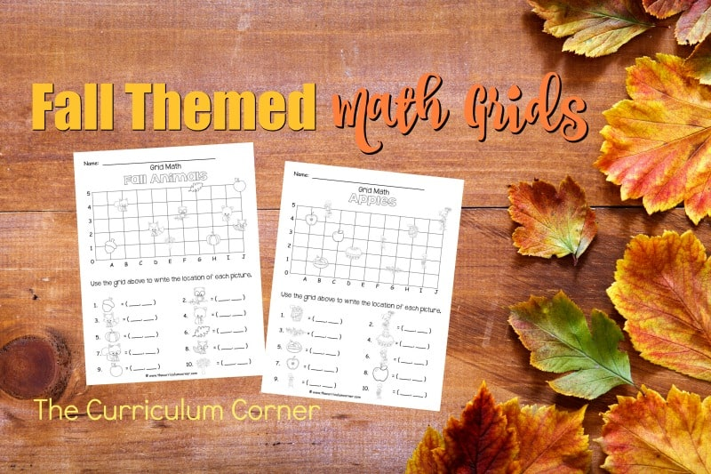 These fall math grids have been created as an engaging, free printable math activity for your classroom (coordinate grids.)