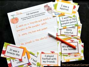 Use this fall writing center as you get ready to wrap up your school year. This fun fall theme will be a great addition to your fall activities.