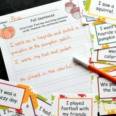 Combining Fall Sentences