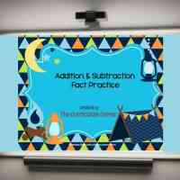Camping Addition & Subtraction PowerPoint Game