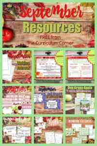 free September resources for teachers