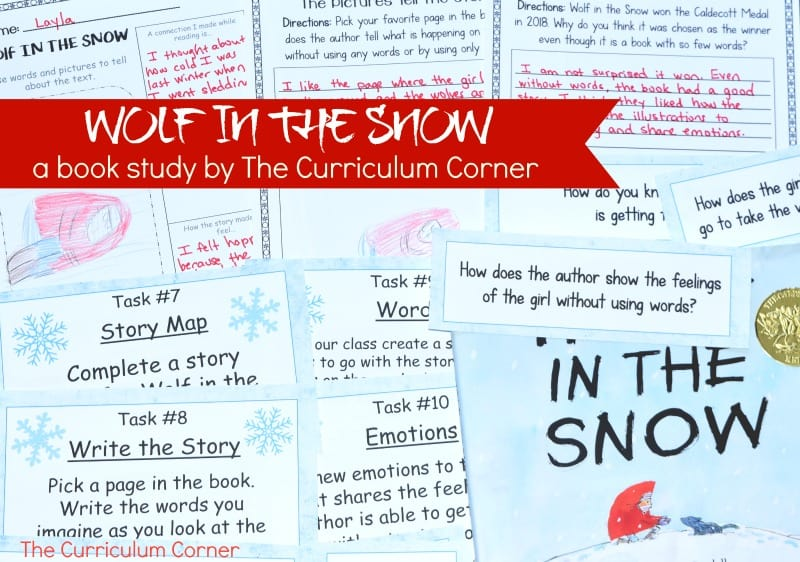Wolf in the SnowBook Study - A free literacy center set created by The Curriculum Corner