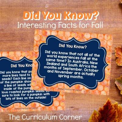 Did You Know? (Facts for Fall)