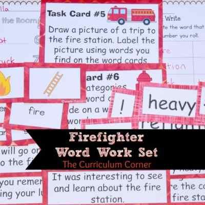Firefighter Word Work