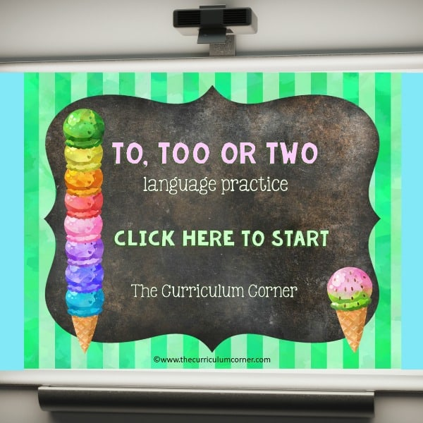 To, Two, Too PowerPoint Game