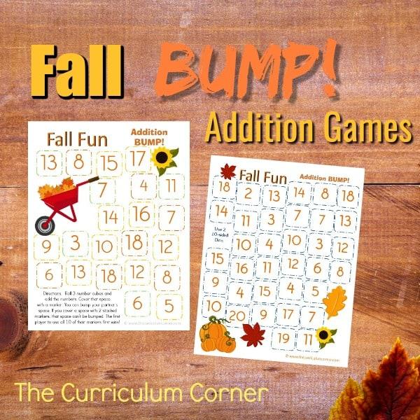 Fall Addition Bump Games
