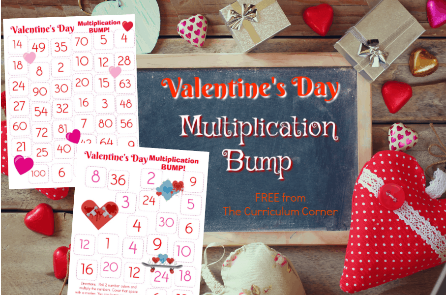 Valentine's Day Multiplication BUMP! This set of free Valentine's Day Multiplication BUMP! Games have been created to help your students work on mastering their multiplication facts this February.