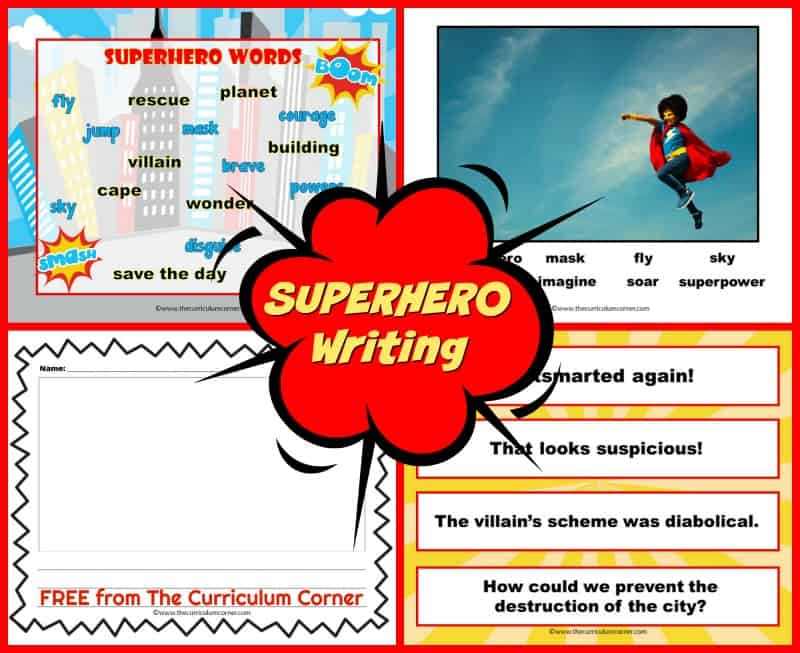 Help your students become super writers with the help of this free Superhero Photo Prompt Set.
