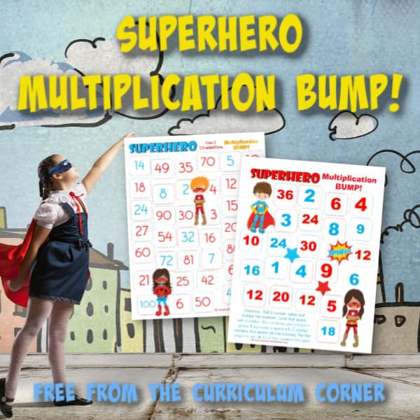 Superhero Multiplication BUMP! This set of free Superhero Multiplication BUMP! Games have been created to help your students work on mastering their multiplication facts in your superhero themed classroom.