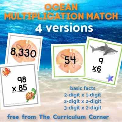 Ocean Multiplication Match (many skills)