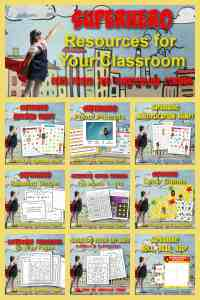Superhero Resource Collection free from The Curriculum Corner