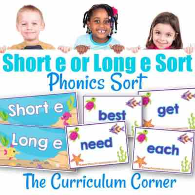 Phonics Sort: Long E & Short E