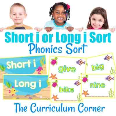 Phonics Sort: Long I & Short I