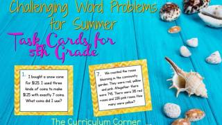 Challenging Word Problems for Summer