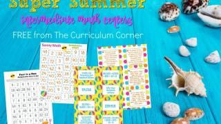 Summer Themed Intermediate Math Centers