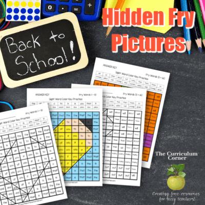 School Fry Word Hidden Pictures