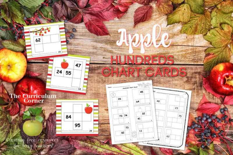apple hundreds chart cards