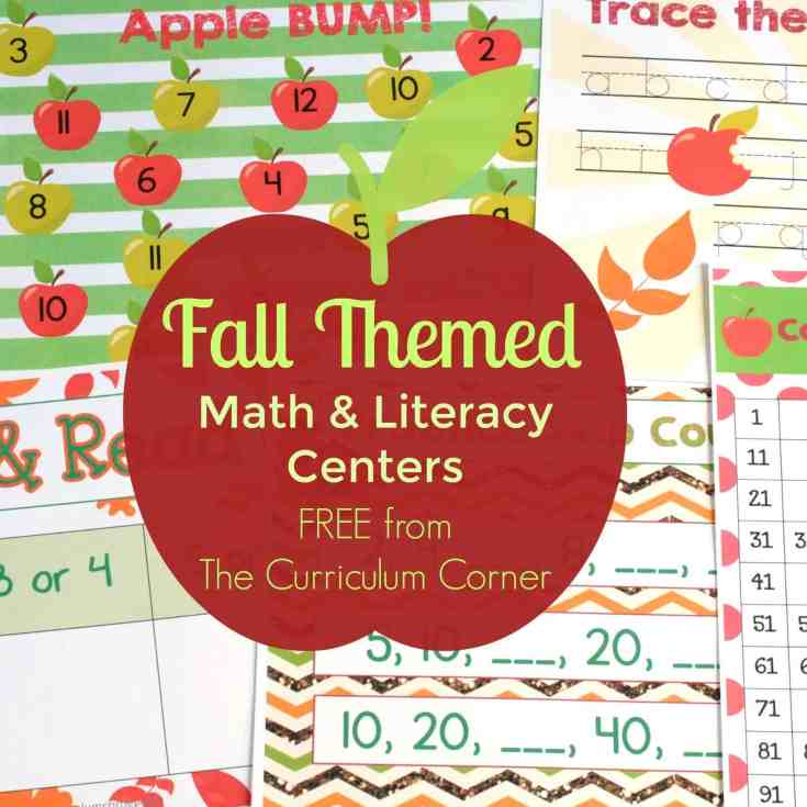 Fall Math & Literacy Centers