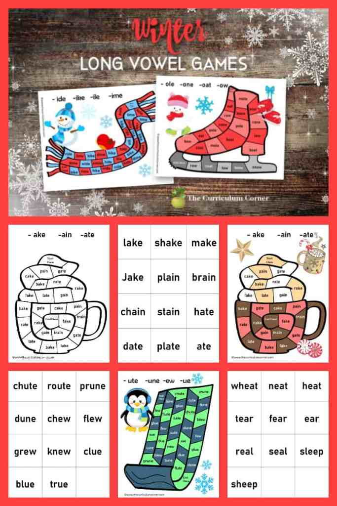 winter long vowel board games