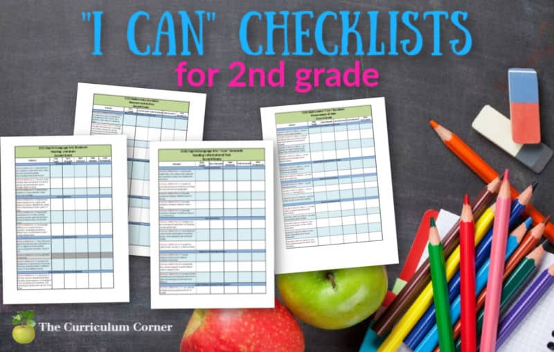 2nd Grade I Can Checklists