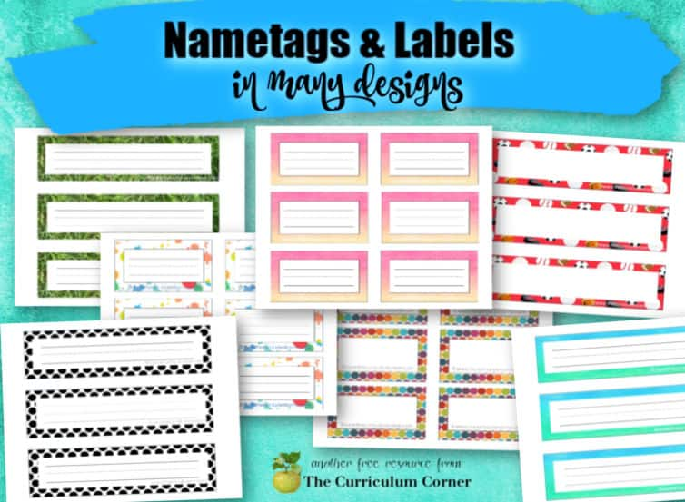 Desk Name Tags Classroom Labels The Curriculum Corner 123