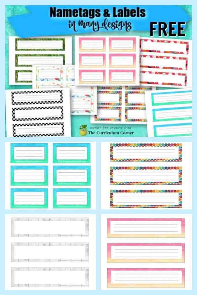 classroom name tags and classroom nametags