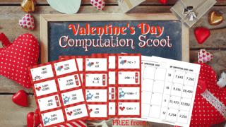 Valentine's Day Computation Scoot