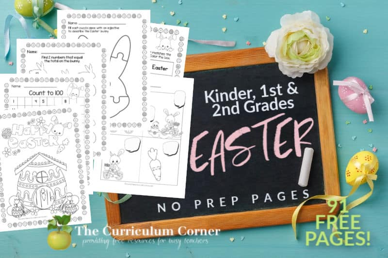Free Easter No Prep Pages