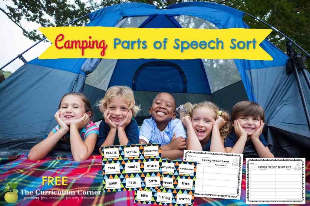 This free camping parts of speech sort is a fun way to give your students language practice.
