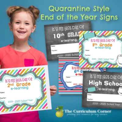 Quarantine Style End of Year Signs